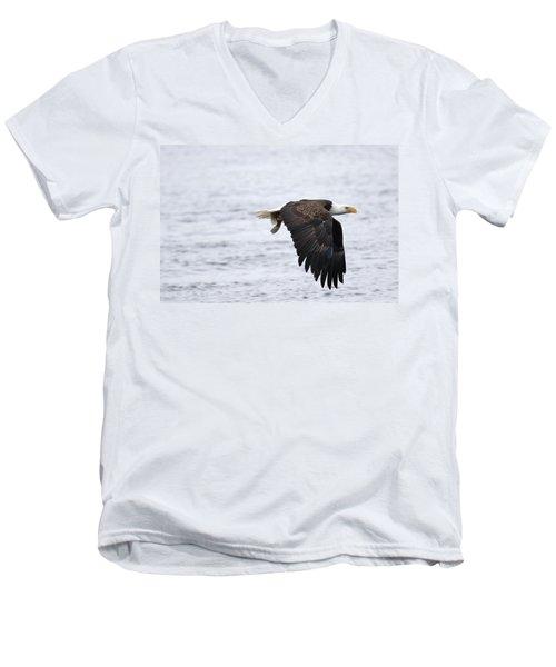 An Eagles Catch 11 Men's V-Neck T-Shirt by Brook Burling