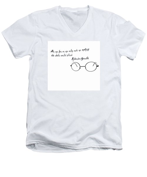 An Eye For An Eye Men's V-Neck T-Shirt by Bill Cannon