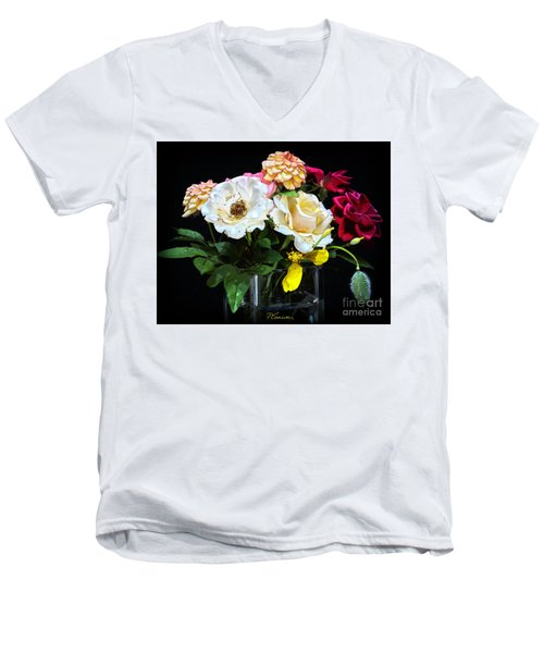 Men's V-Neck T-Shirt featuring the photograph An Informal Study by Tom Cameron