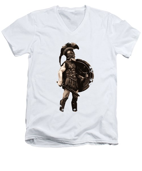 Ancient Greek Hoplite Men's V-Neck T-Shirt