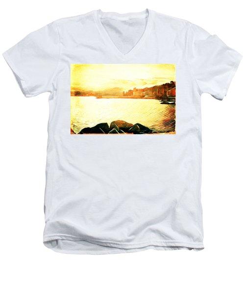 Ancient Marina Men's V-Neck T-Shirt by Andrea Barbieri