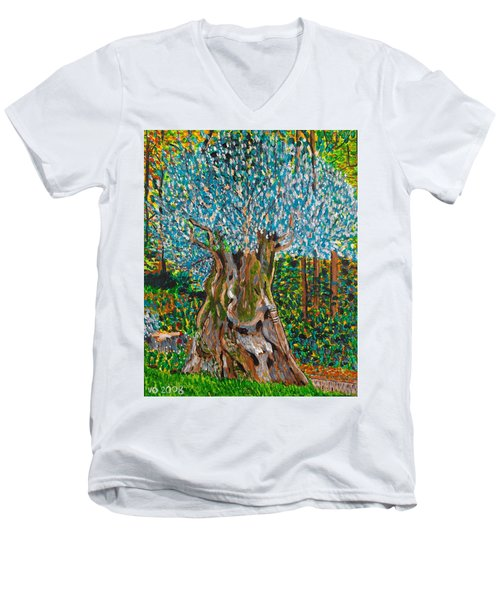 Ancient Olive Tree Men's V-Neck T-Shirt