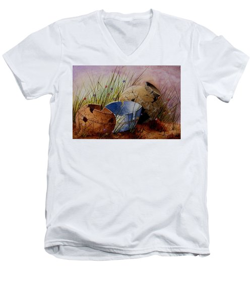 Ancient Relics A Paint Along With Jerry Yarnell' Study. Men's V-Neck T-Shirt
