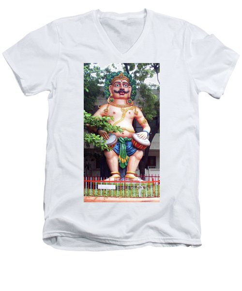 Ancient Security Men's V-Neck T-Shirt by Ragunath Venkatraman