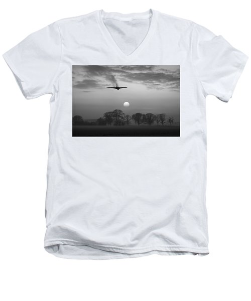 And Finally Black And White Version Men's V-Neck T-Shirt