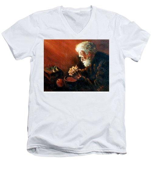 And The Old Man Prayed Men's V-Neck T-Shirt