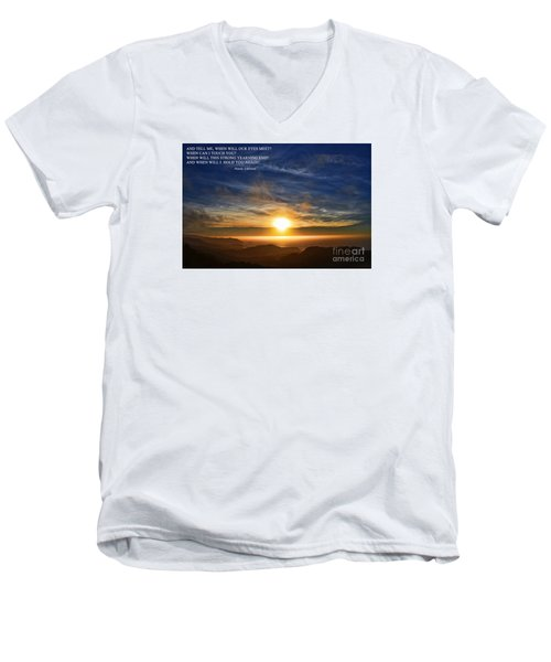 And When Will I Hold You Again Men's V-Neck T-Shirt