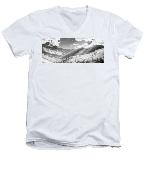 Men's V-Neck T-Shirt featuring the photograph And You Feel The Scene by Jon Glaser