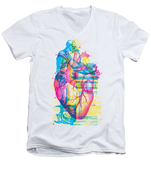 Andreae Vesalii Anatomy 3 Men's V-Neck T-Shirt