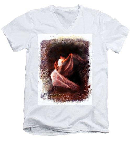 Ballet Angel Men's V-Neck T-Shirt