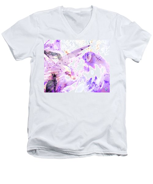 Angel Eyes Men's V-Neck T-Shirt