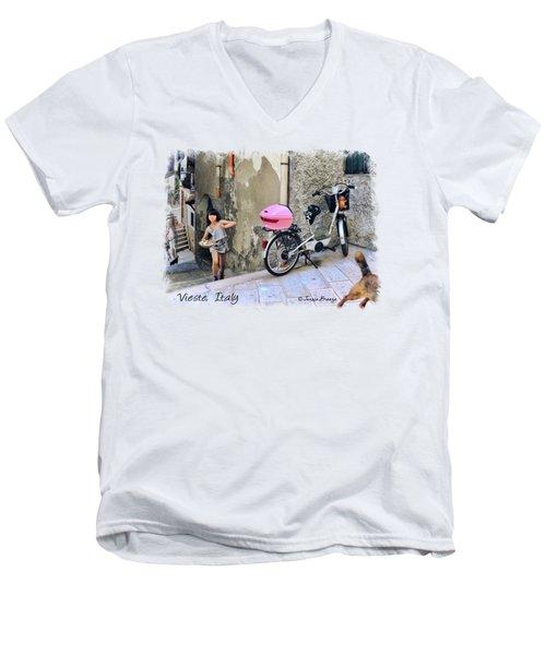 Angel Face.vieste.italy Men's V-Neck T-Shirt by Jennie Breeze