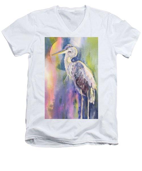Angel Heron Men's V-Neck T-Shirt