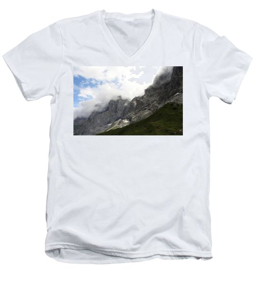 Angel Horns In The Clouds Men's V-Neck T-Shirt