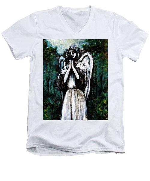 Angel In The Garden Men's V-Neck T-Shirt