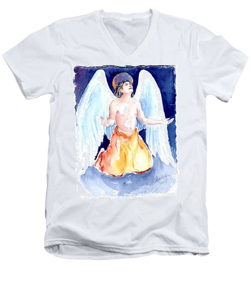 Angel Of Gratitude Men's V-Neck T-Shirt