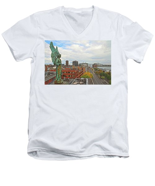 Angel Of Old Montreal Men's V-Neck T-Shirt