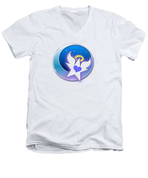 Angel Star Icon Men's V-Neck T-Shirt by Shelley Overton