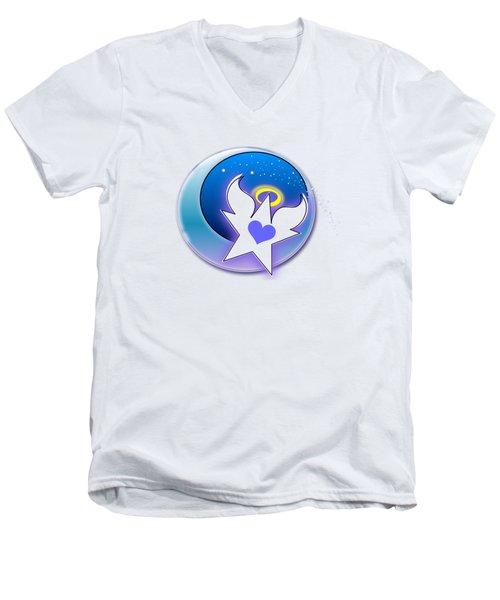 Angel Star Icon Men's V-Neck T-Shirt
