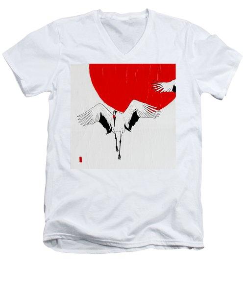 Angelic Crane Men's V-Neck T-Shirt