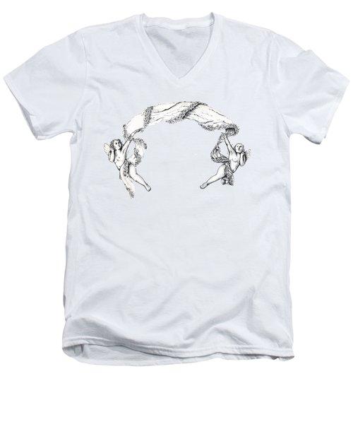 Angels On High Men's V-Neck T-Shirt