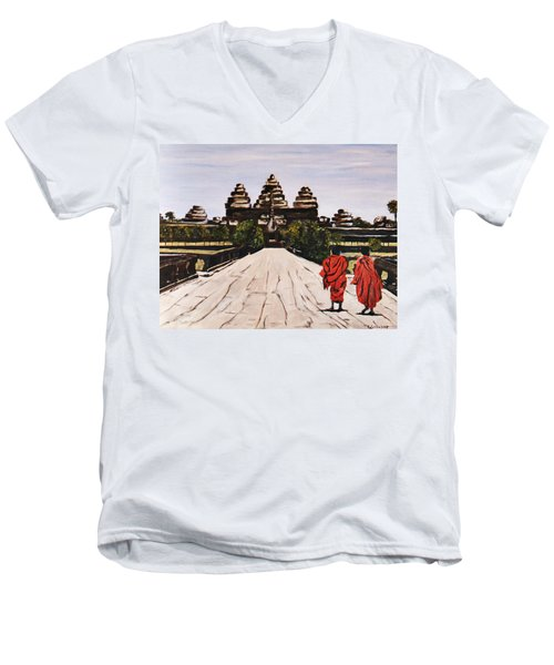 Angkor Wat Men's V-Neck T-Shirt