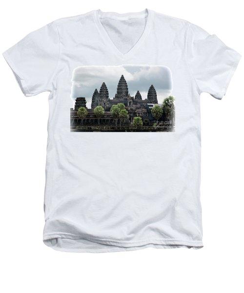 Angkor Wat Focus  Men's V-Neck T-Shirt