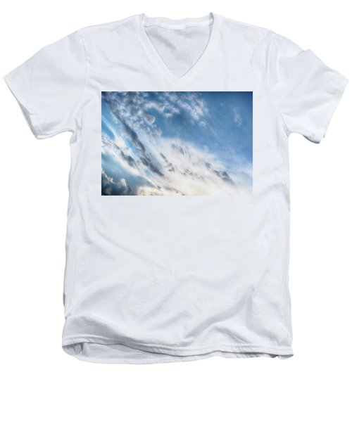 Men's V-Neck T-Shirt featuring the photograph Angry Clouds by Susan Stone