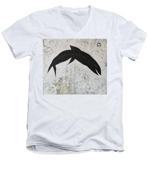 Animalia Black Fish Men's V-Neck T-Shirt