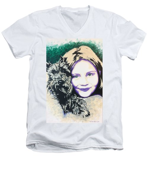 Anita Men's V-Neck T-Shirt by Victor Minca