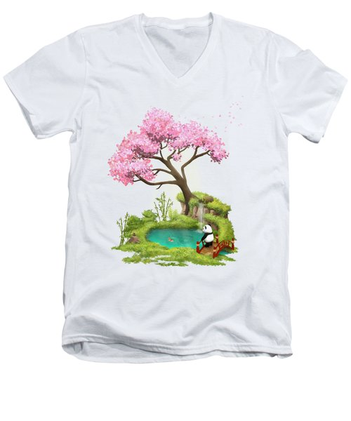 Anjing II - The Zen Garden Men's V-Neck T-Shirt by Carlos M R Alves