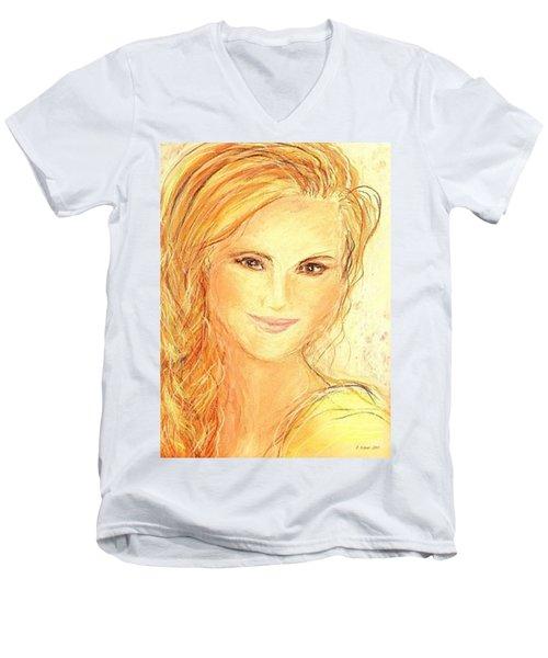 Anna Paquin Men's V-Neck T-Shirt