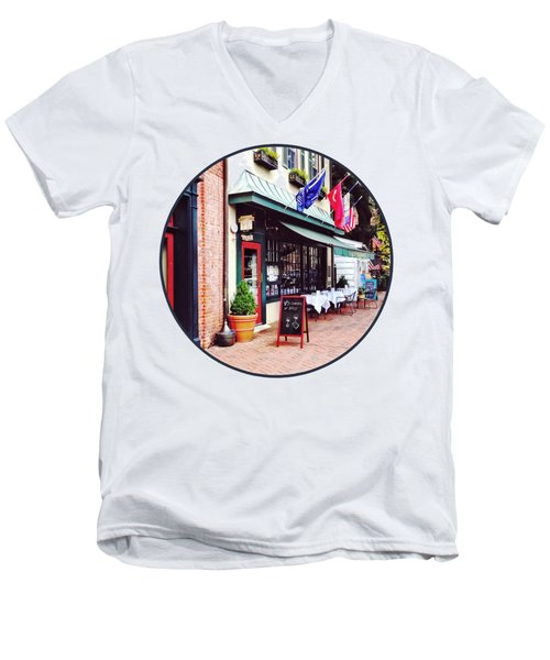 Annapolis Md - Restaurant On State Circle Men's V-Neck T-Shirt
