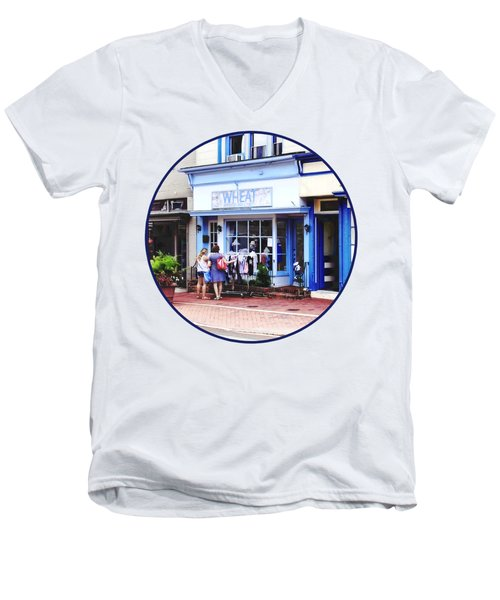 Annapolis Md - Shopping On Main Street Men's V-Neck T-Shirt