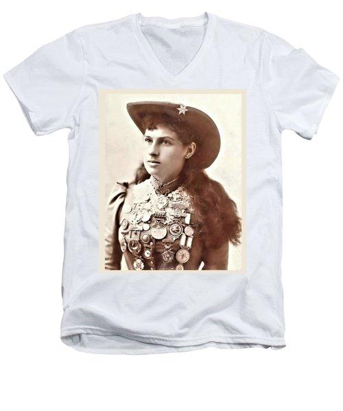 Annie Oakley 1 Men's V-Neck T-Shirt