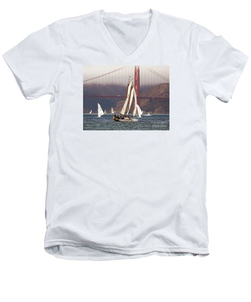 Another Fine Day Men's V-Neck T-Shirt by Scott Cameron