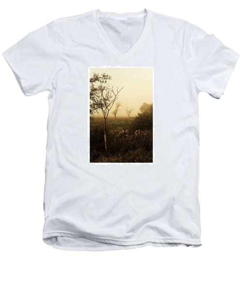 Another Morning  #autumn #morning Men's V-Neck T-Shirt by Mandy Tabatt