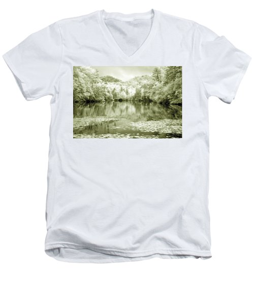Men's V-Neck T-Shirt featuring the photograph Another World by Alex Grichenko