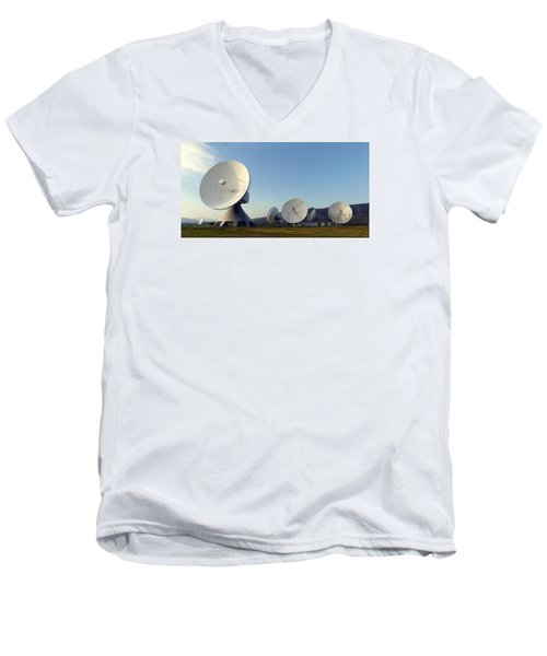 Antenna Array 2 Of The Earth Station  Men's V-Neck T-Shirt