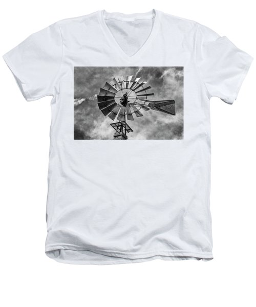 Men's V-Neck T-Shirt featuring the photograph Anticipation by Stephen Stookey