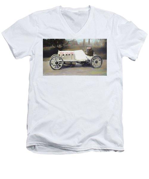 Antique Fiat Racer Dop Men's V-Neck T-Shirt