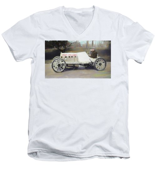 Antique Fiat Racer Dop Men's V-Neck T-Shirt