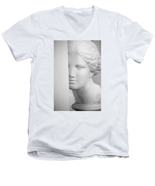 Men's V-Neck T-Shirt featuring the photograph Antique Sculpture by Andrey  Godyaykin