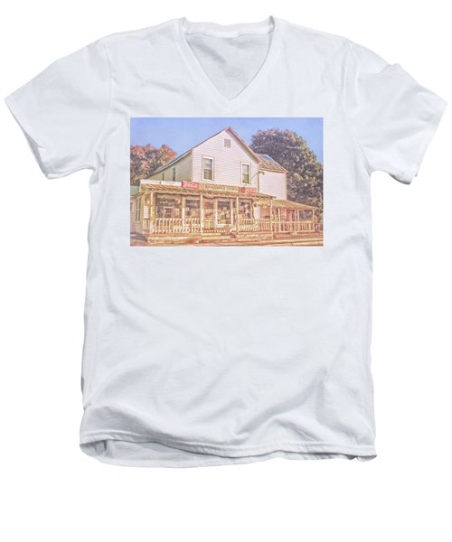 Antique Store, Colonial Beach Virginia Men's V-Neck T-Shirt