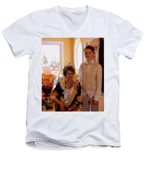 Antonia And Grandson Men's V-Neck T-Shirt