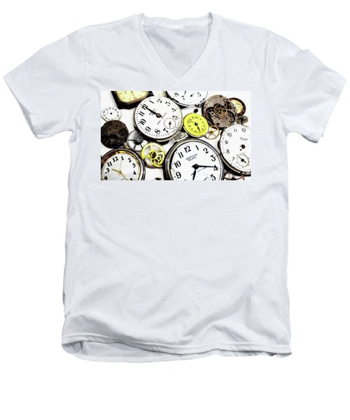 Anybody Really Know What Time It Is Men's V-Neck T-Shirt by Pat Cook