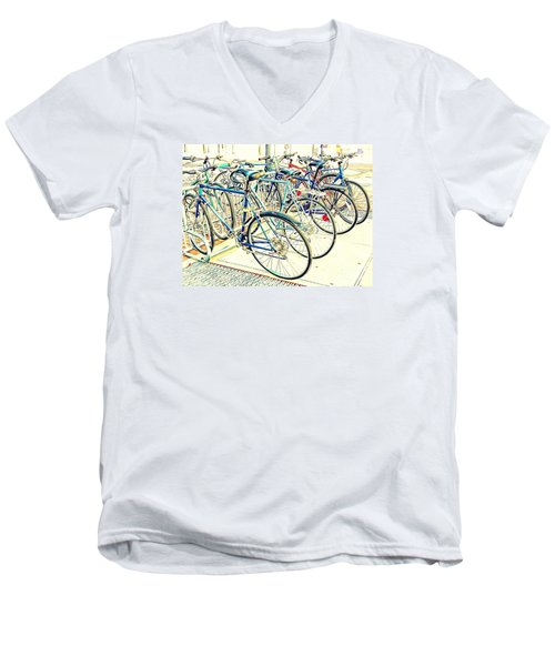 Anyone For A Ride? Men's V-Neck T-Shirt