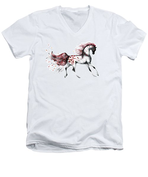 Appaloosa Rose Petals Horse Men's V-Neck T-Shirt