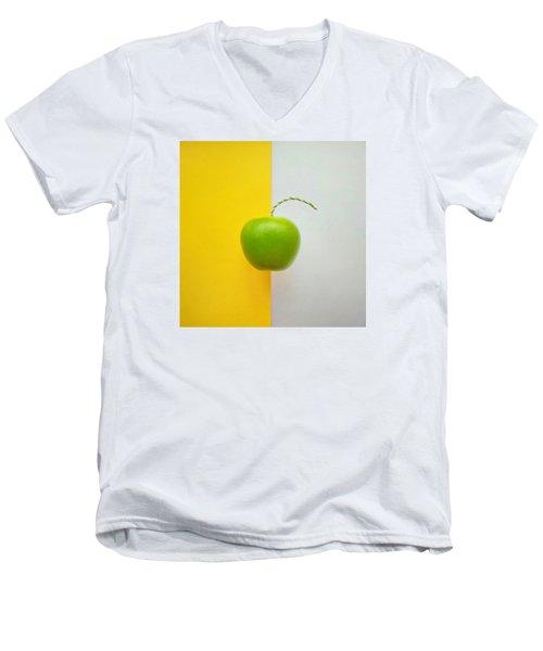 Green Apple Men's V-Neck T-Shirt