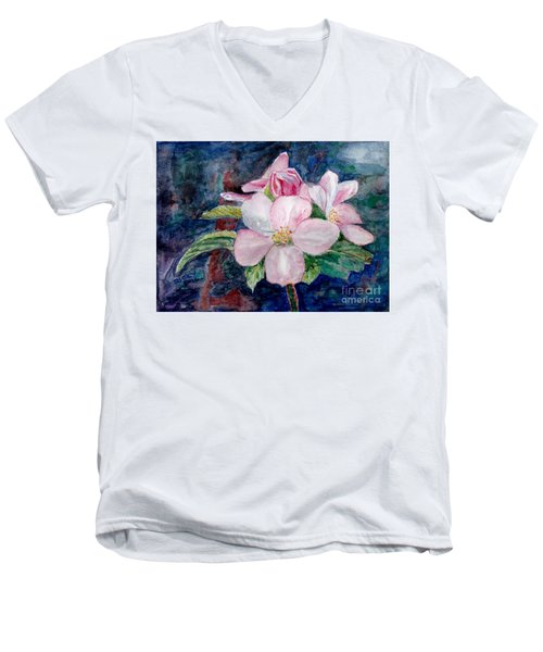 Apple Blossom - Painting Men's V-Neck T-Shirt